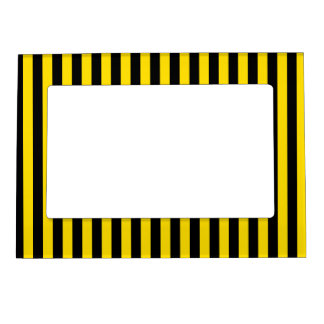 Thin Stripes - Black and Golden Yellow Magnetic Frame