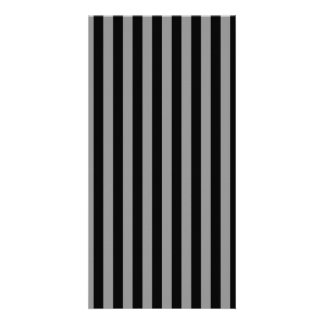Thin Stripes - Black and Gray Card