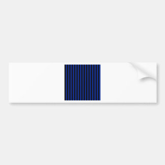 Thin Stripes - Black and Imperial Blue Bumper Sticker