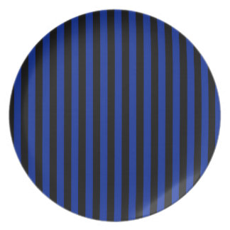Thin Stripes - Black and Imperial Blue Plate