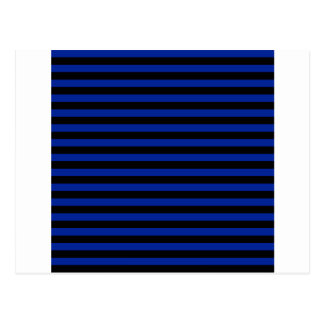 Thin Stripes - Black and Imperial Blue Postcard