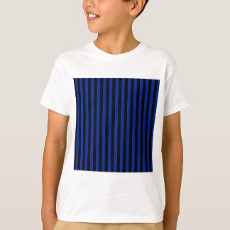 Thin Stripes - Black and Imperial Blue T-Shirt