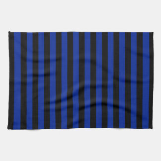 Thin Stripes - Black and Imperial Blue Tea Towel