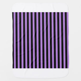Thin Stripes - Black and Lavender Baby Blanket