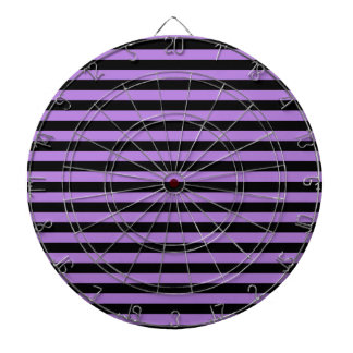 Thin Stripes - Black and Lavender Dartboard