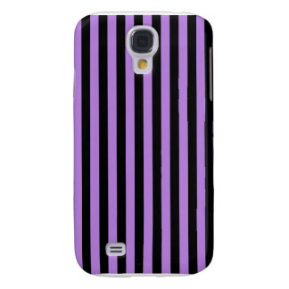 Thin Stripes - Black and Lavender Galaxy S4 Cover