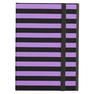 Thin Stripes - Black and Lavender iPad Air Cover