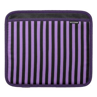 Thin Stripes - Black and Lavender iPad Sleeve