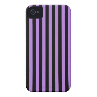 Thin Stripes - Black and Lavender iPhone 4 Case-Mate Case