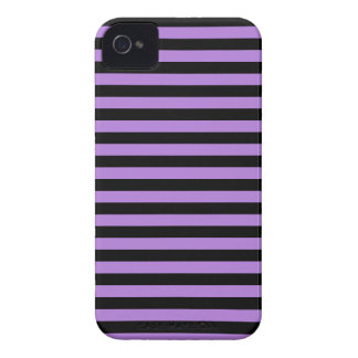 Thin Stripes - Black and Lavender iPhone 4 Cases