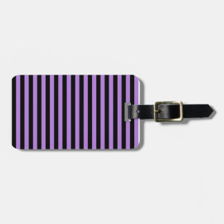 Thin Stripes - Black and Lavender Luggage Tag