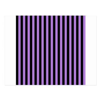 Thin Stripes - Black and Lavender Postcard