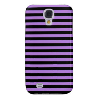 Thin Stripes - Black and Lavender Samsung Galaxy S4 Case