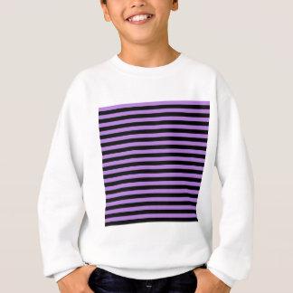 Thin Stripes - Black and Lavender Sweatshirt