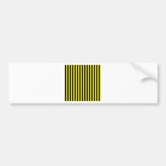 Thin Stripes - Black and Lemon Bumper Sticker