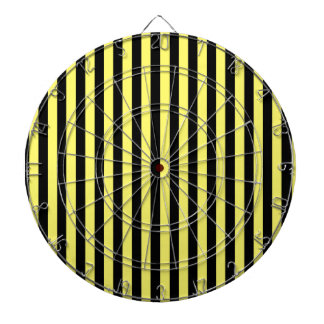 Thin Stripes - Black and Lemon Dartboard