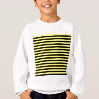 Thin Stripes - Black and Lemon Sweatshirt