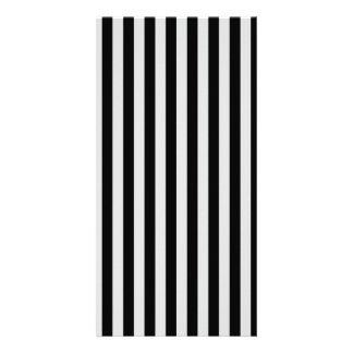 Thin Stripes - Black and Light Gray Card