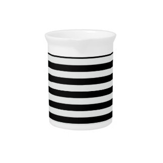 Thin Stripes - Black and Light Gray Drink Pitchers
