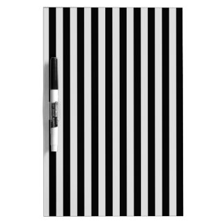 Thin Stripes - Black and Light Gray Dry Erase Board