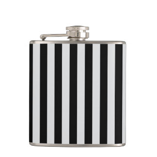 Thin Stripes - Black and Light Gray Flask
