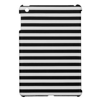 Thin Stripes - Black and Light Gray iPad Mini Covers