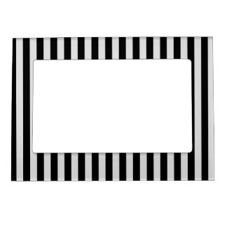 Thin Stripes - Black and Light Gray Magnetic Frame