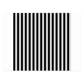 Thin Stripes - Black and Light Gray Postcard