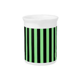 Thin Stripes - Black and Light Green Beverage Pitchers