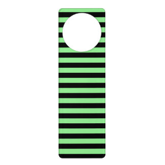 Thin Stripes - Black and Light Green Door Hanger