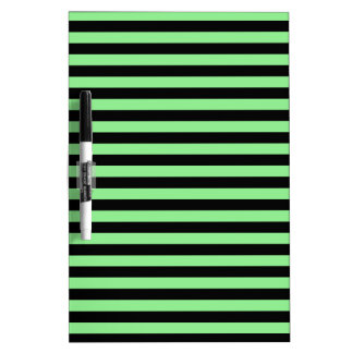 Thin Stripes - Black and Light Green Dry Erase Board