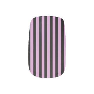 Thin Stripes - Black and Light Medium Orchid Minx Nail Art