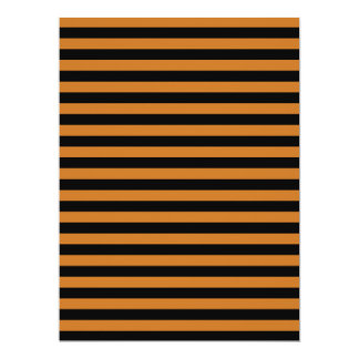 Thin Stripes - Black and Ochre Card