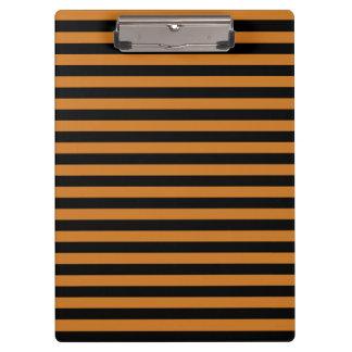 Thin Stripes - Black and Ochre Clipboard