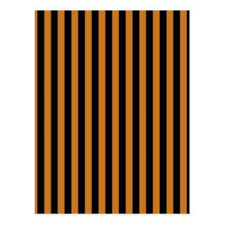 Thin Stripes - Black and Ochre Postcard