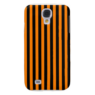 Thin Stripes - Black and Orange Galaxy S4 Case