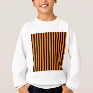 Thin Stripes - Black and Orange Sweatshirt