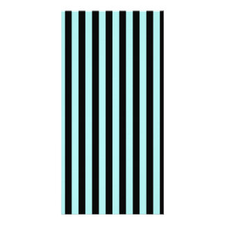Thin Stripes - Black and Pale Blue Card