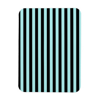 Thin Stripes - Black and Pale Blue Magnet