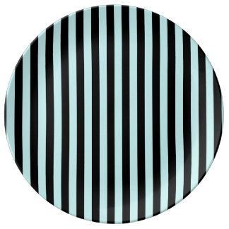 Thin Stripes - Black and Pale Blue Plate
