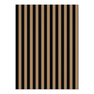 Thin Stripes - Black and Pale Brown Card