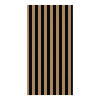 Thin Stripes - Black and Pale Brown Photo Greeting Card