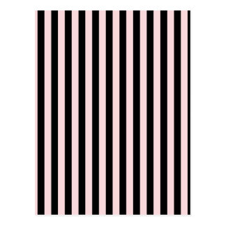 Thin Stripes - Black and Pale Pink Postcard