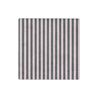 Thin Stripes - Black and Pale Pink Stone Magnet