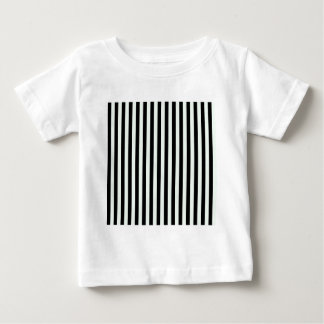 Thin Stripes - Black and Pastel Green Baby T-Shirt