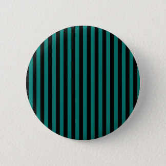 Thin Stripes - Black and Pine Green 6 Cm Round Badge