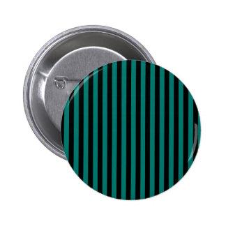 Thin Stripes - Black and Pine Green 6 Cm Round Badge