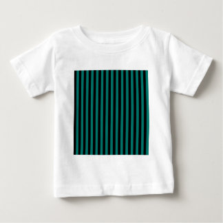 Thin Stripes - Black and Pine Green Baby T-Shirt