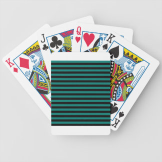 Thin Stripes - Black and Pine Green Bicycle Playing Cards