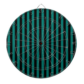 Thin Stripes - Black and Pine Green Dartboard